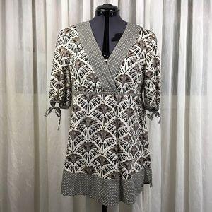 Esprit Cotton Printed Cross Over Boho Top